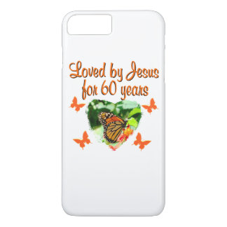 60TH BUTTERFLY BIRTHDAY DESIGN iPhone 7 PLUS CASE