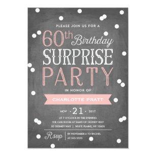 Surprise 60th birthday invitations announcements zazzle uk 60th confetti surprise party invitation birthday filmwisefo