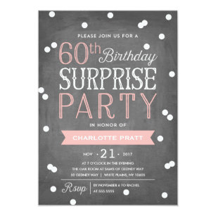 surprise 60th birthday invitations announcements zazzle uk