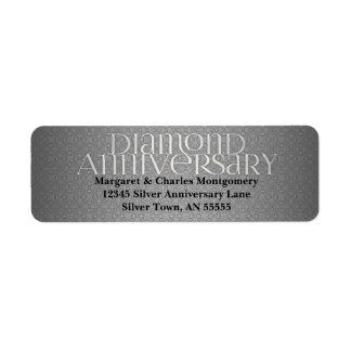 60th Diamond Anniversary Avery Label Return Address Label