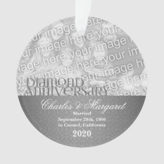 60th Diamond Anniversary | Photo Ornament
