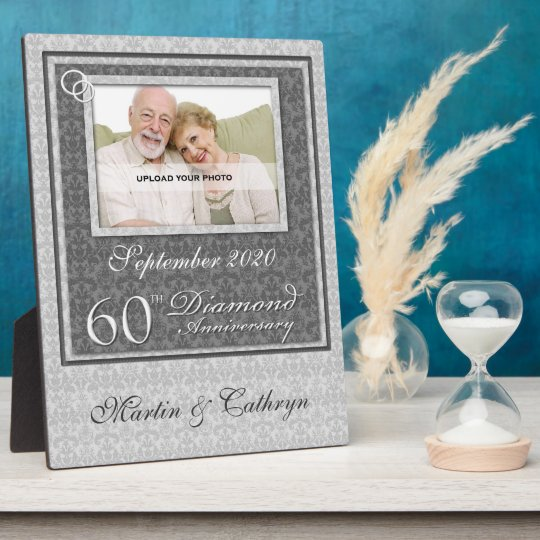 60th Diamond Anniversary Photo Plaque