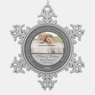 60th Diamond Annivsersary | Photo Ornament