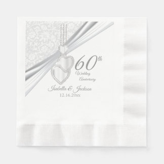 60th Diamond Wedding Anniversary 2 Paper Napkin