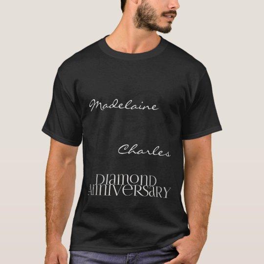 60th Diamond Wedding Anniversary | Custom t-shirt