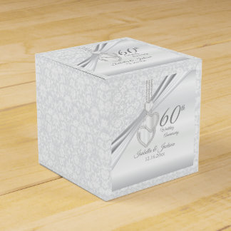 60th Diamond Wedding Anniversary Favour Box