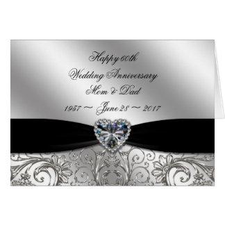 60th Diamond Wedding Anniversary Greeting Card