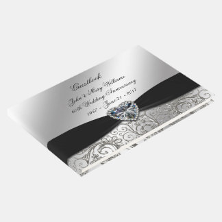 60th Diamond Wedding Anniversary Guestbook