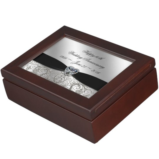 60th Diamond Wedding Anniversary Keepsake Box
