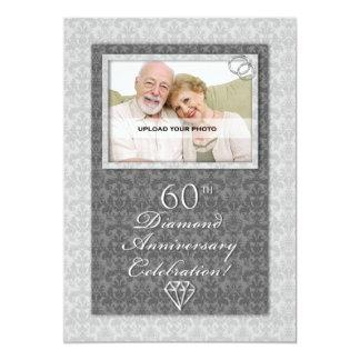 60th Diamond Wedding Anniversary Party Invitations