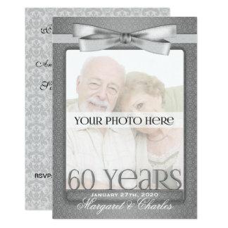 60th Diamond Wedding Anniversary Photo Party Card