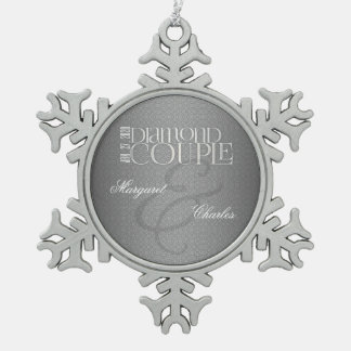 60th Diamond Wedding Annivsersary |Custom Ornament