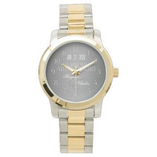 60th Diamond Wedding Annivsersary Custom Watch