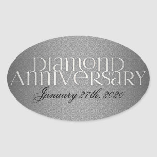 60th Diamond Wedding Annivsersary Stickers