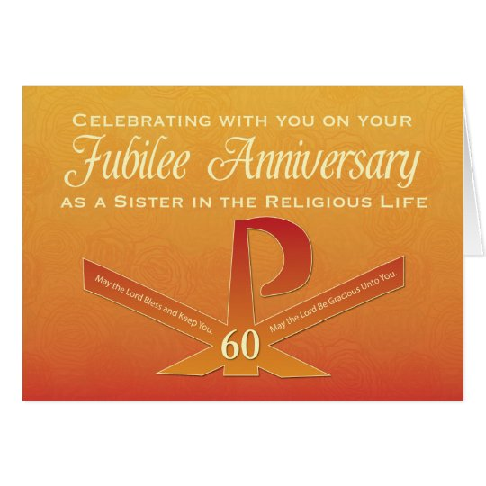 60th Jubilee Anniversary Nun Pax Cross, Orange and