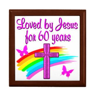 60th LOVING GOD Large Square Gift Box