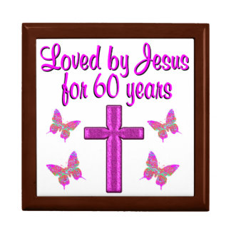 60TH LOVING JESUS LARGE SQUARE GIFT BOX
