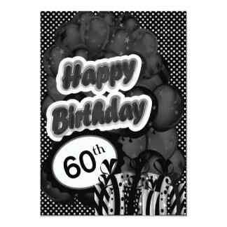 60th Milestone Birthday 13 Cm X 18 Cm Invitation Card