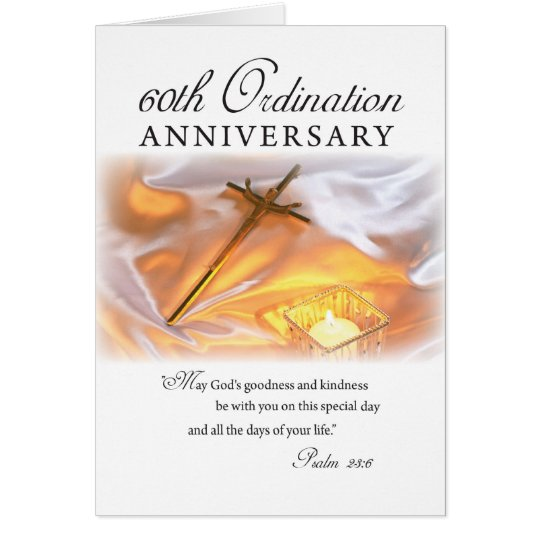 60th Ordination Anniversary, Cross Candle Card