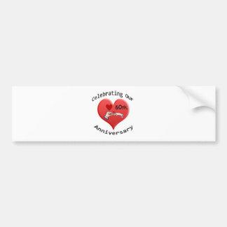 60th. Wedding Anniversary Bumper Sticker