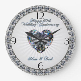 60th Wedding Anniversary Clock