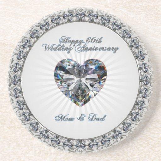 60th Wedding Anniversary Coaster