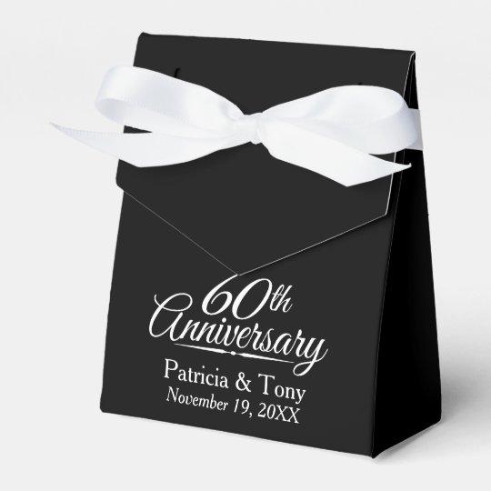 60th Wedding Anniversary - Custom Black Thank You