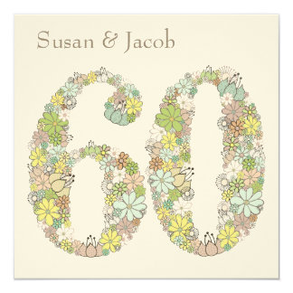 60th Wedding Anniversary Custom Invitation