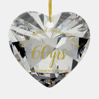 60th Wedding Anniversary Diamond PHOTO Gift Christmas Ornament