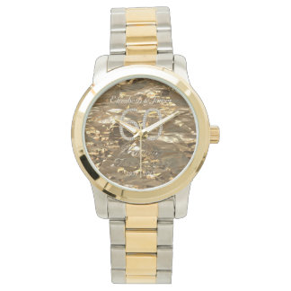 60th Wedding Anniversary Diamond Wedding Gold Chic Watch