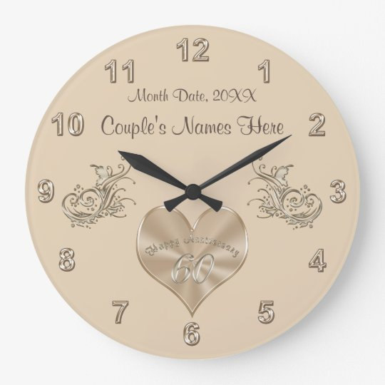 60th Wedding Anniversary Gift Couple's NAMES, DATE Wall