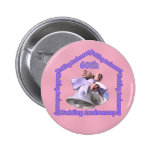 60th Wedding Anniversary Gifts Pinback Button
