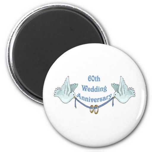 60th wedding anniversary gifts t fridge magnet