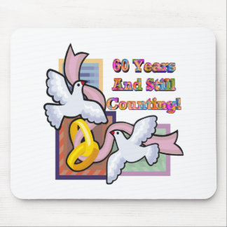 60th wedding anniversary gt mouse mat