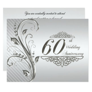 60th Wedding Anniversary Invitation Card Pictures