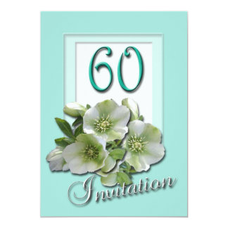 60th Wedding Anniversary Invitation Hellebores