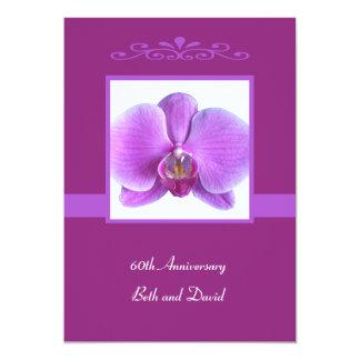 60th Wedding Anniversary Invitation Orchid