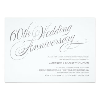 60th Wedding Anniversary Invitations
