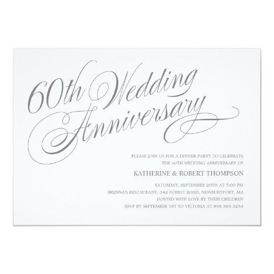 60th wedding anniversary invitations zazzle co uk