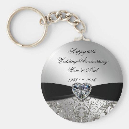 60th Wedding Anniversary Key Chain