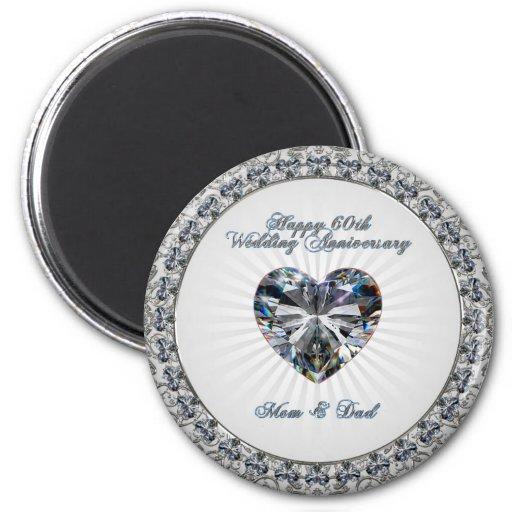 60th Wedding Anniversary Magnet Refrigerator Magnets