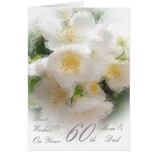 60th Wedding Anniversary Mom & Dad Mock Orange Blo Card