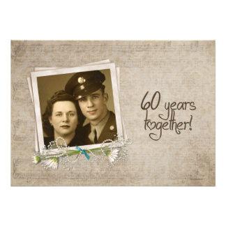 60th Wedding Anniversary Open House Custom Announcement