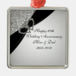 60th Wedding Anniversary Ornament