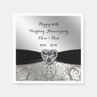 60th Wedding Anniversary Paper Napkins