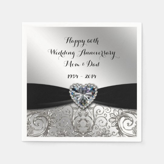 60th Wedding Anniversary Paper Napkins