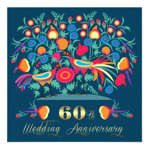 60th Wedding Anniversary Party Invitations Custom Invites
