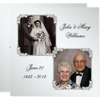 High Quality 60th Wedding Anniversary Photo Invitation Card Design