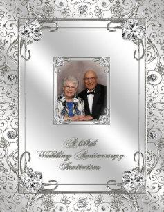 60th wedding anniversary invitations announcements zazzle 60th wedding anniversary photo invitation card stopboris Image collections