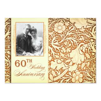 60th wedding anniversary photo invitations